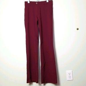 Betabrand dark red straight leg pants